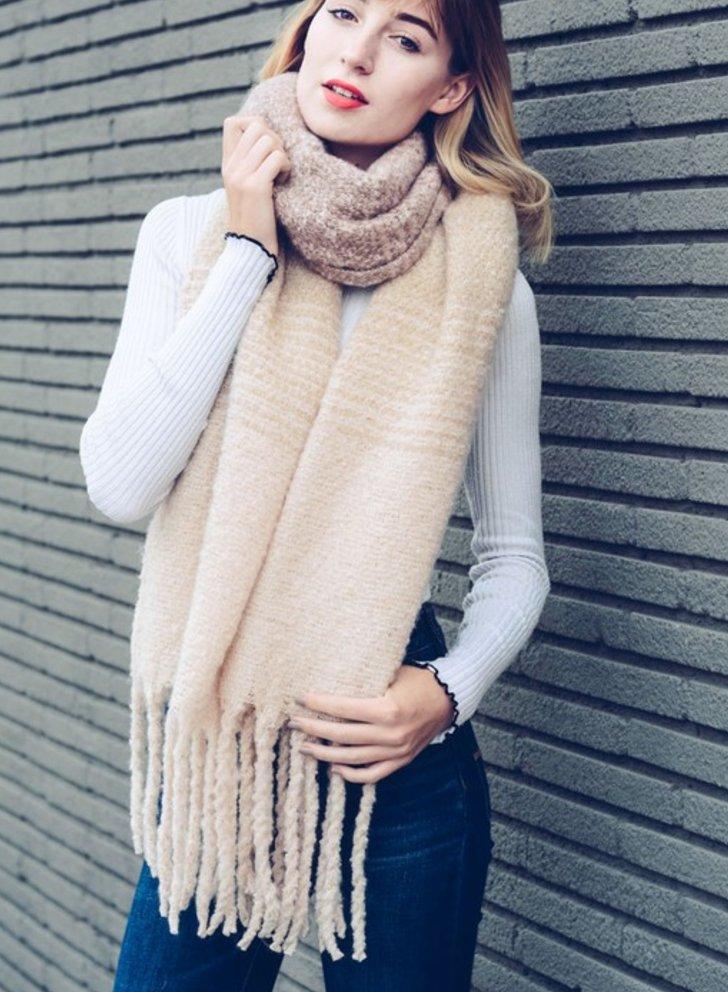 Super Soft Blush Ombre Knit Tassel Scarf USD 60.00 https://t.co/8H8y9Hq9oG https://t.co/a0C17znts8
