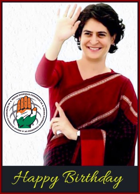 May your life in this world always be filled with, joy, peace and happiness. Happy birthday Priyanka Gandhi Ji.