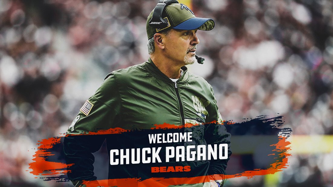 RT @ChicagoBears: We have hired Chuck Pagano as our defensive coordinator.  Welcome to Chicago, Coach!  #DaBears https://t.co/WnkuXLkf3I