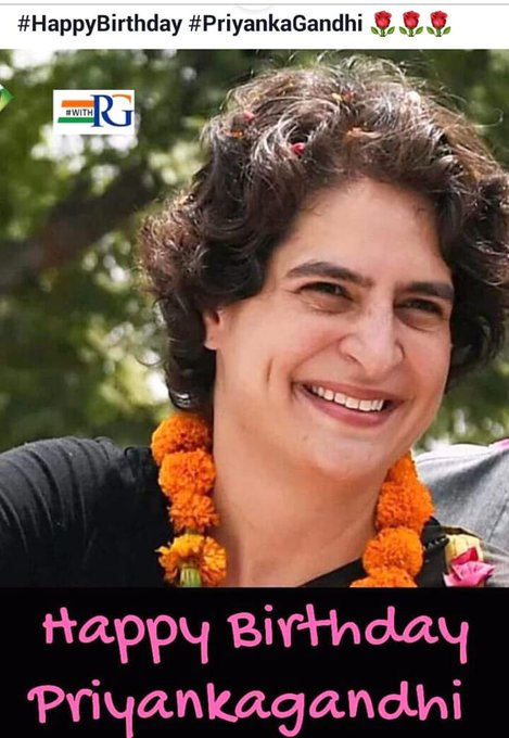 Happy birthday ,to the beautiful Lady , Priyanka Gandhi