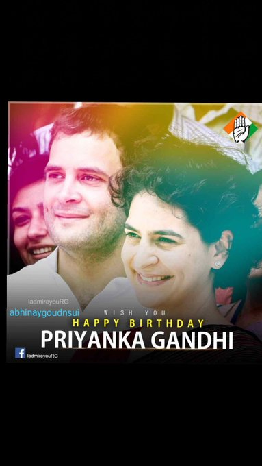 Happy birthday Priyanka Gandhi ji