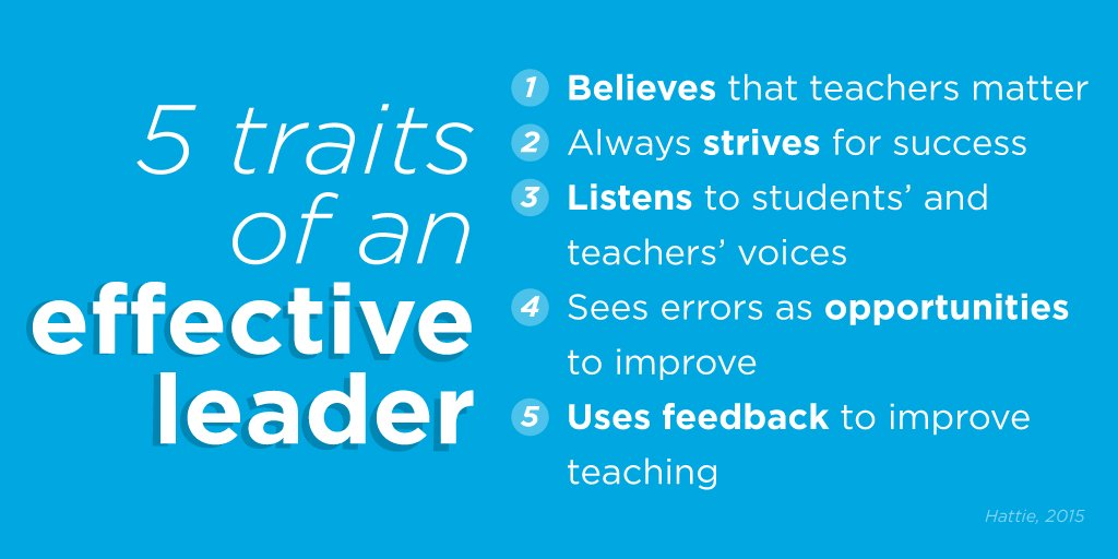 It's no secret what makes a great school leader! https://t.co/3AVybXX95H