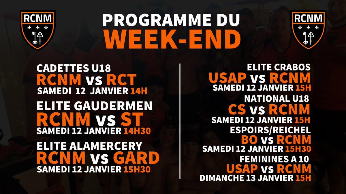 PROGRAMME DU WEEK-END  🆚  Retrouvez le programme du week-end avec la réception...