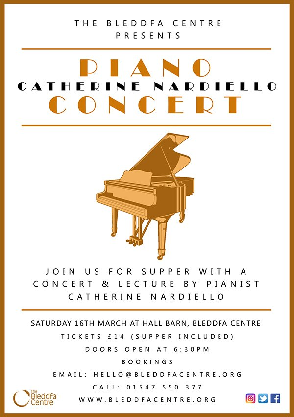 Image for This classical concert & supper promises to be a fantastic night out. Get your tickets by emailing hello@bleddfacentre.org or call 01547 550 377 #music #concert #nightout #culture #Powys #MidWales https://t.co/VLwGQ91zFO