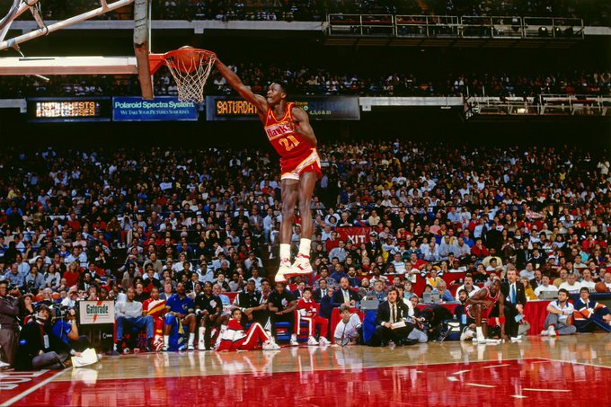 "Happy Birthday to NBA legend Dominique Wilkins aka ""The Human Highlight Film.\"" I hope you enjoy it!"