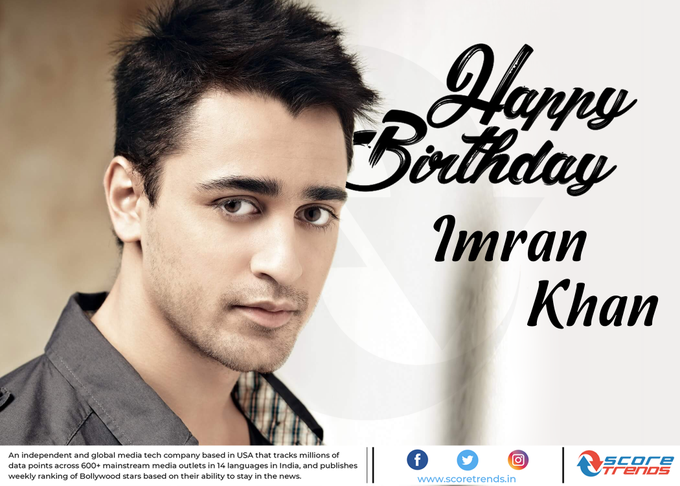 Score Trends wishes Imran Khan a Happy Birthday!!