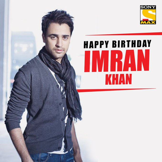 Wishing the talented Imran Khan a very happy birthday.