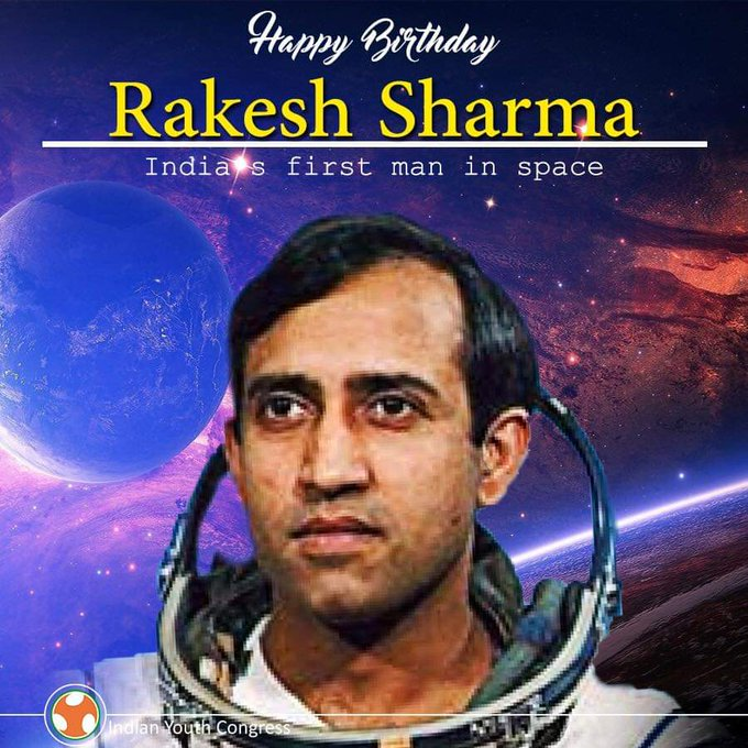 Happy Birthday to Rakesh Sharma - India\s First Man In Space !!