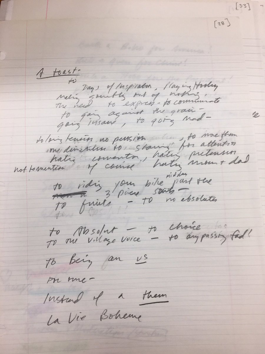 RT @jenashtep: From Jonathan Larson's notepad. Thank you Jonathan. Without you, your legacy lives on. #RENTLive. ???????????? https://t.co/aORRcBoL7Z