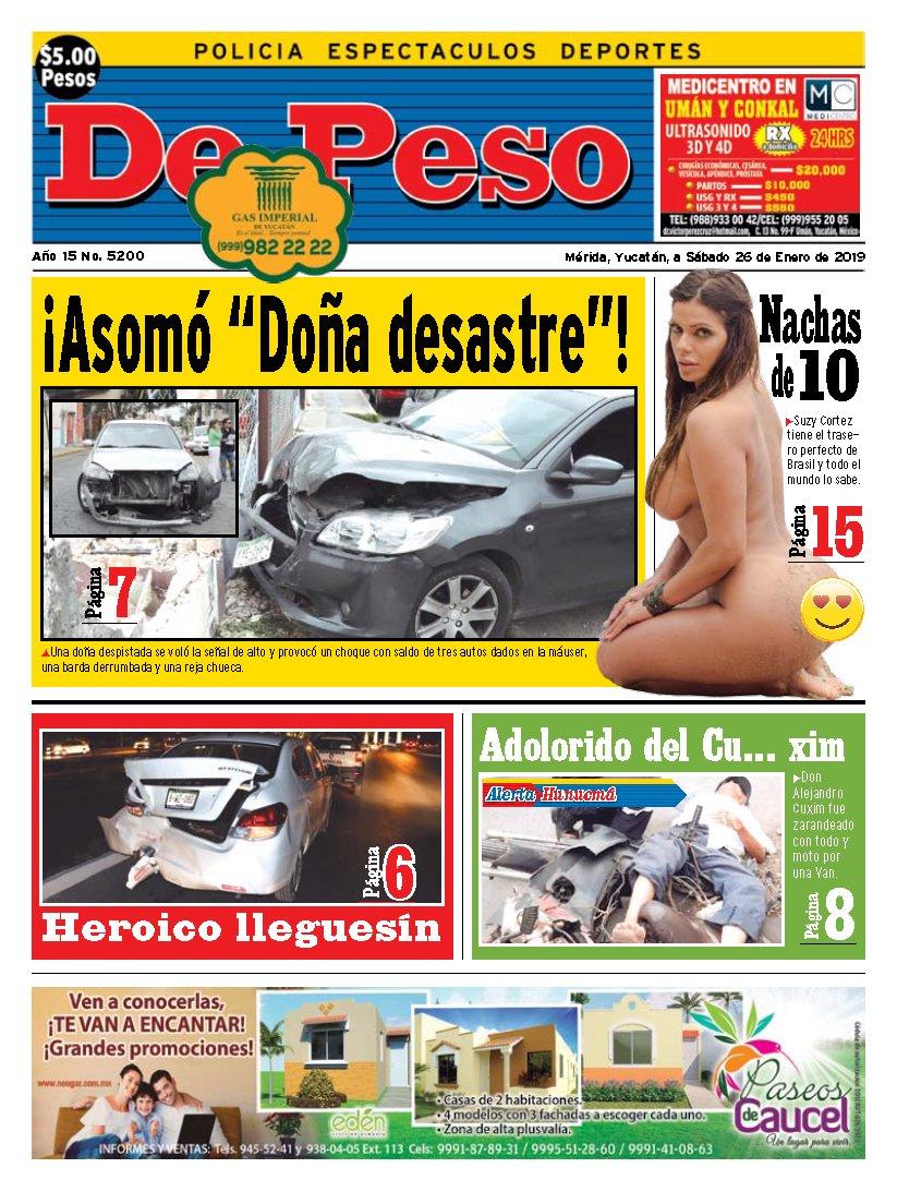 RT @depesoyuc: La mejor portada de nuestro periódico, ¿piensas lo mismo, @SuzyCortez_? https://t.co/DtBJyAWfJw