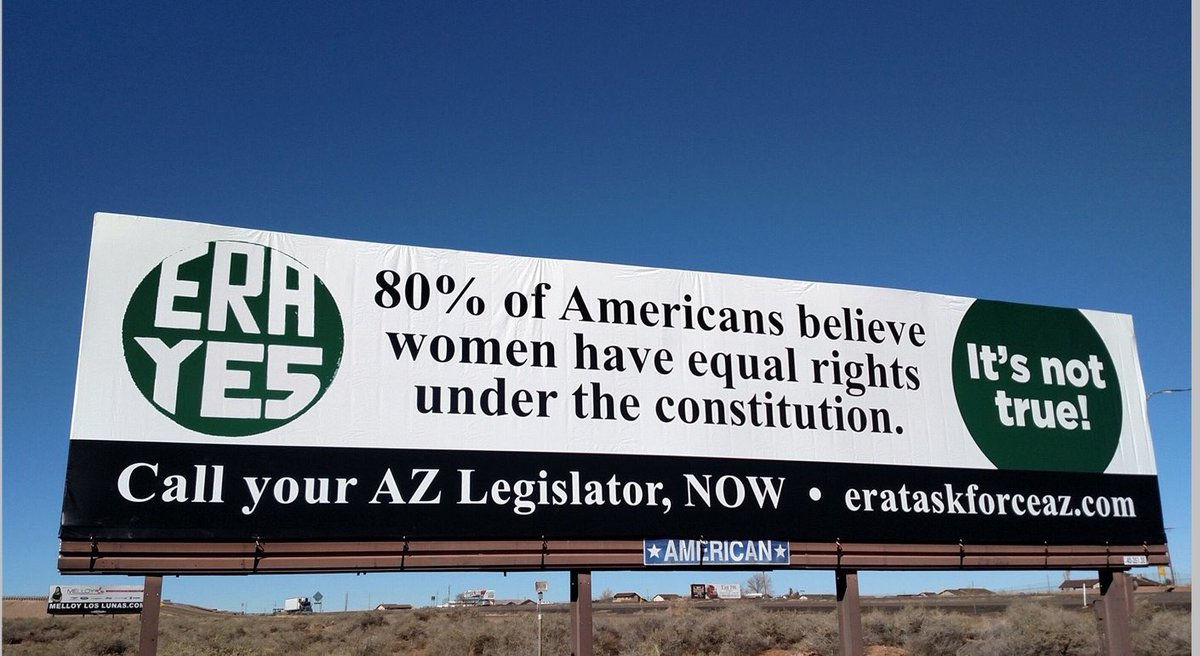 RT @Kate_Kelly_Esq: There are #ERA billboards going up all around Arizona ✨????✊???? #ERANow https://t.co/yculL05iOy