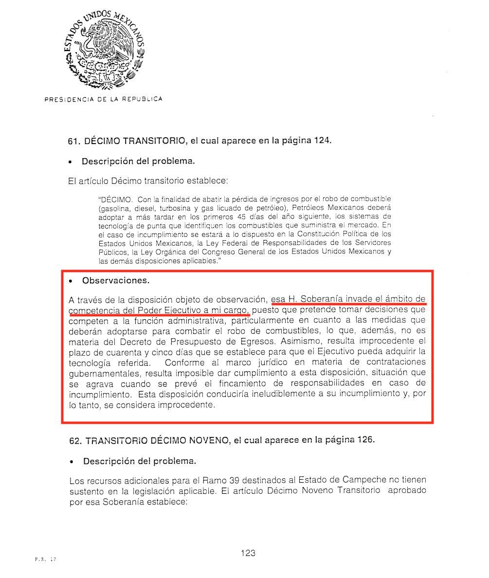 En dic/2004 @VicenteFoxQue sí metió ante la @SCJN una Controversia Constitucional para invalidar un Art. Transitorio aprobado por  @Mx_Diputados en el PEF2005, que obligaba a @Pemex a marcar los combustibles y diferenciarlos del robado.   #Verificamos los documentos  Aquí un hilo