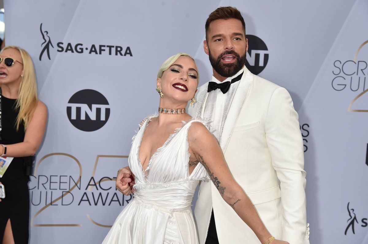 RT @etnow: Lady Gaga and Ricky Martin on the silver carpet together is ALMOST too much for us to handle. #SAGawards https://t.co/QI6P00pDtb