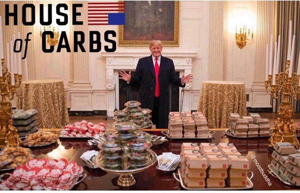 RT @alsoANGRYref: Dinner at The White House  #ThingsThatAreBadForYourHealth https://t.co/e0sRmfmvdR