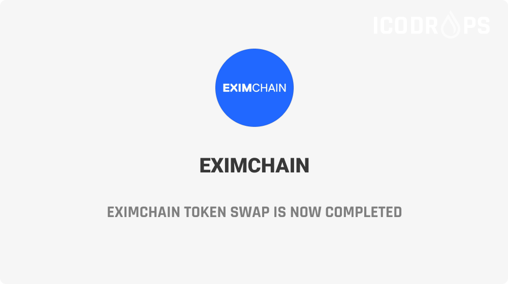 Eximchain token swap is now completed. Details: https://t.co/7fZf2rq6LX https://t.co/mISYVGeLgk