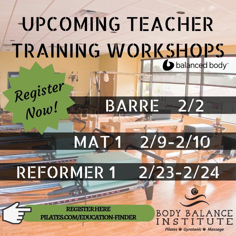 February Workshop Registration is now open! Register today! <3 #balancedbody #floridapilates #jaxpilates https://t.co/raRiPjqOQV