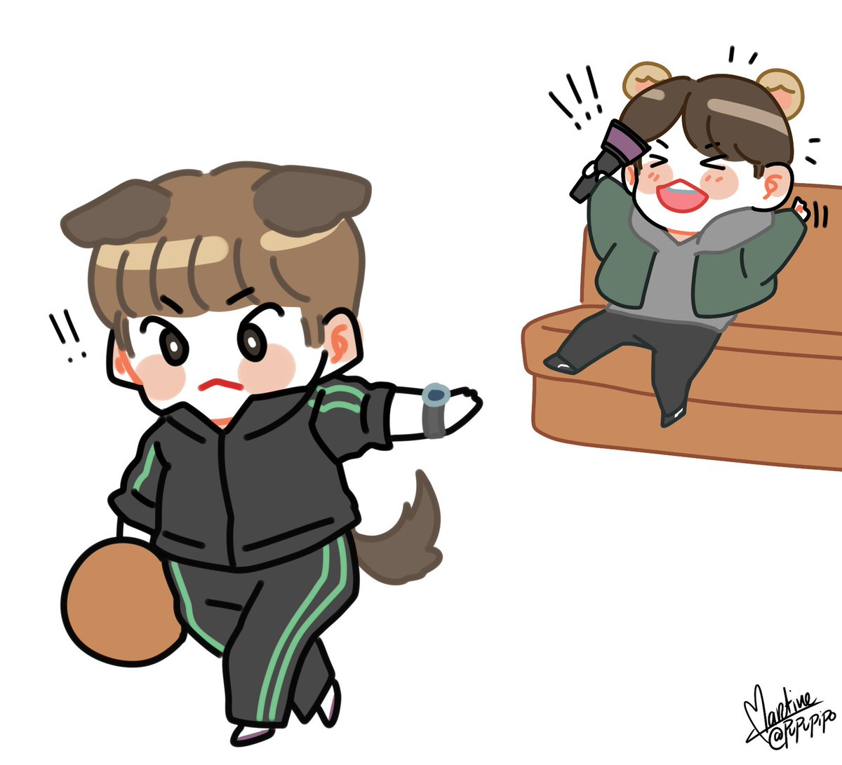 RT @pupupipo: 🐶 & 🐹 ISAC cheering!!!!!  even if you don't win, you're a champion  #minhyuk #민혁 #kihyun #기현 https://t.co/7AviDUuPCx