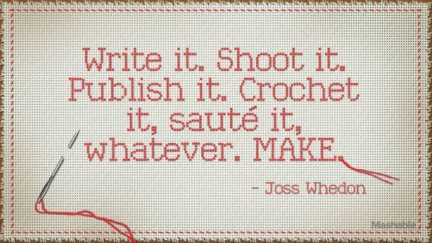Solid wisdom from Mr. @joss Whedon about creativity.. https://t.co/h0Ow7XPfw8