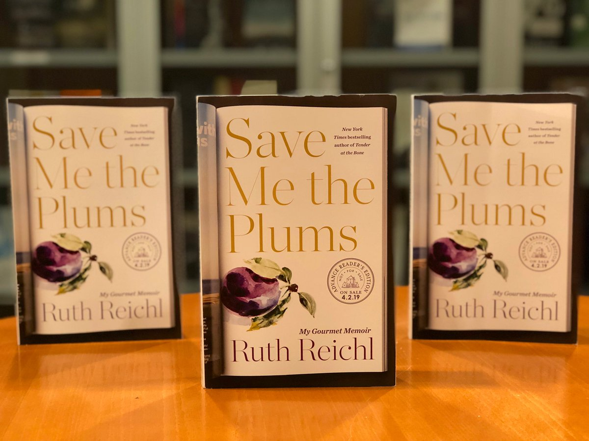 Happy birthday @ruthreichl! We're so excited to publish Save Me the Plums this April! 🎉 https://t.co/62LLdzxPzB