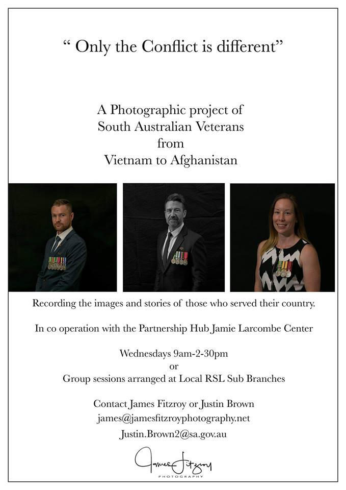 test Twitter Media - 'Only The Conflict Is Different' a photographic project of South Australian veterans, from Vietnam to Afghanistan. Wednesday mornings at The Partnerships Hub. https://t.co/938uxwjsmY