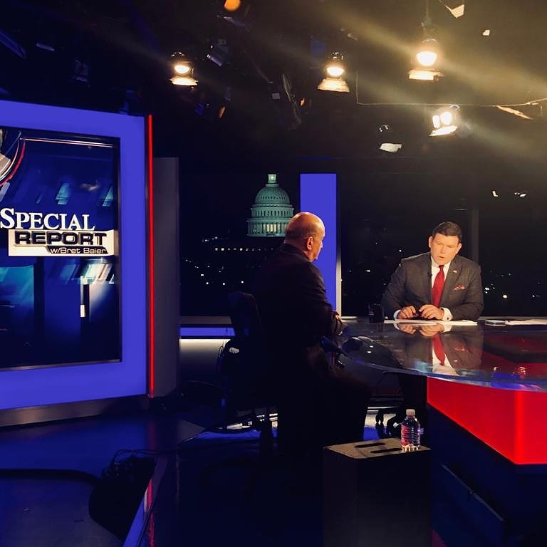 With @BretBaier tonight https://t.co/AR9wOBuTUk