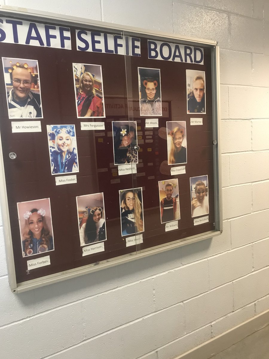 St. Andrew's PE staff selfie board completed✔️📸 https://t.co/XWn0hdSBSH