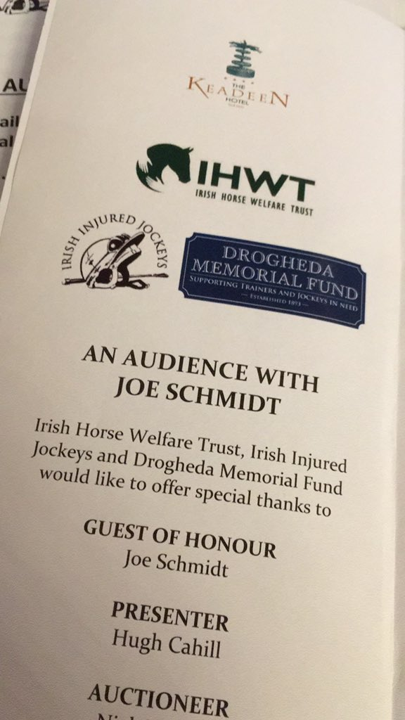test Twitter Media - Looking forward to the @InjuredJockeys event with guest speaker Joe Schmidt in the @KeadeenHotel https://t.co/3PR3dy2xTz