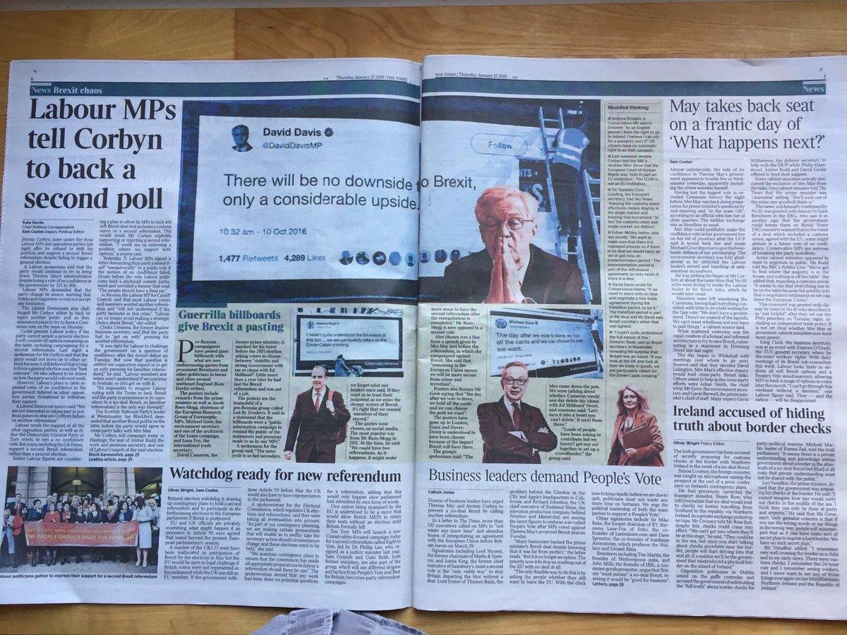 RT @ByDonkeys: Double page spread in today's @thetimes print edition #LedByDonkeys https://t.co/T3OMNjNDGq