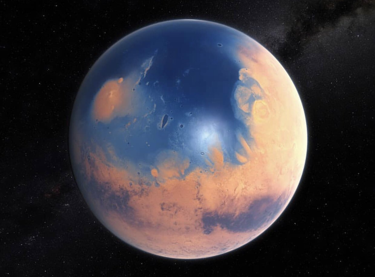 4 Milyar yıl önce Mars nasıl görünüyordu? https://t.co/MRLmw1Jro1