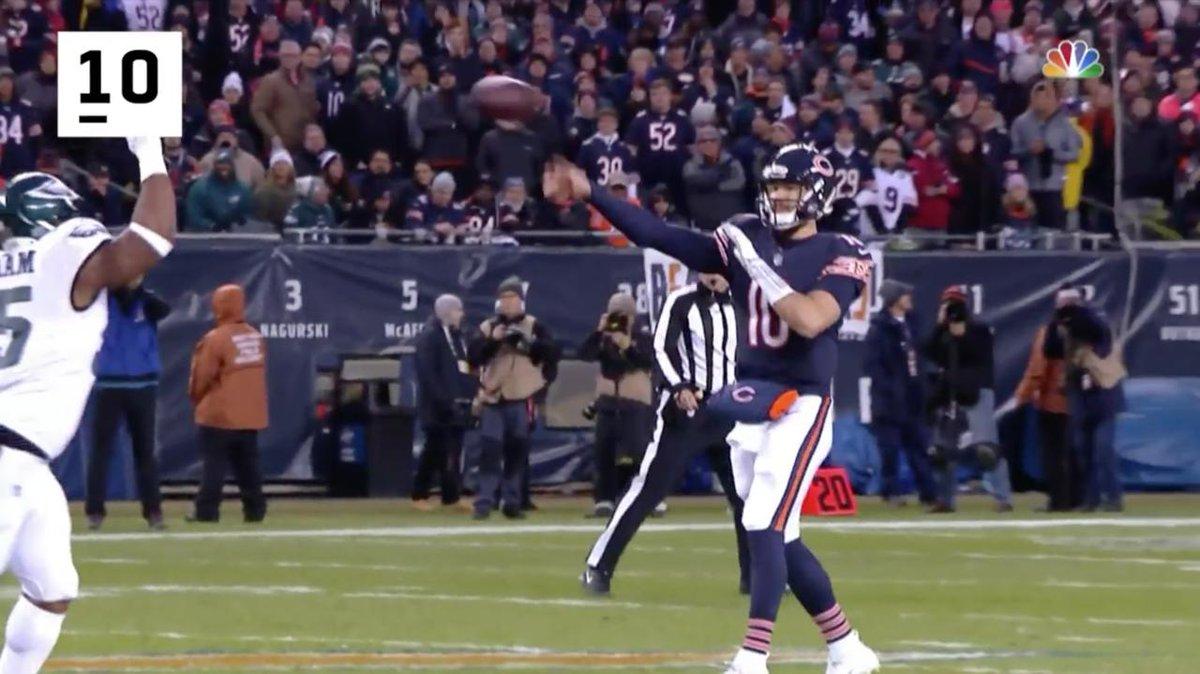 RT @NFL: His second season: 📈📈📈  @ChicagoBears QB @MTrubisky10's 10 BEST plays of the year! https://t.co/C50Z66Q0Bq