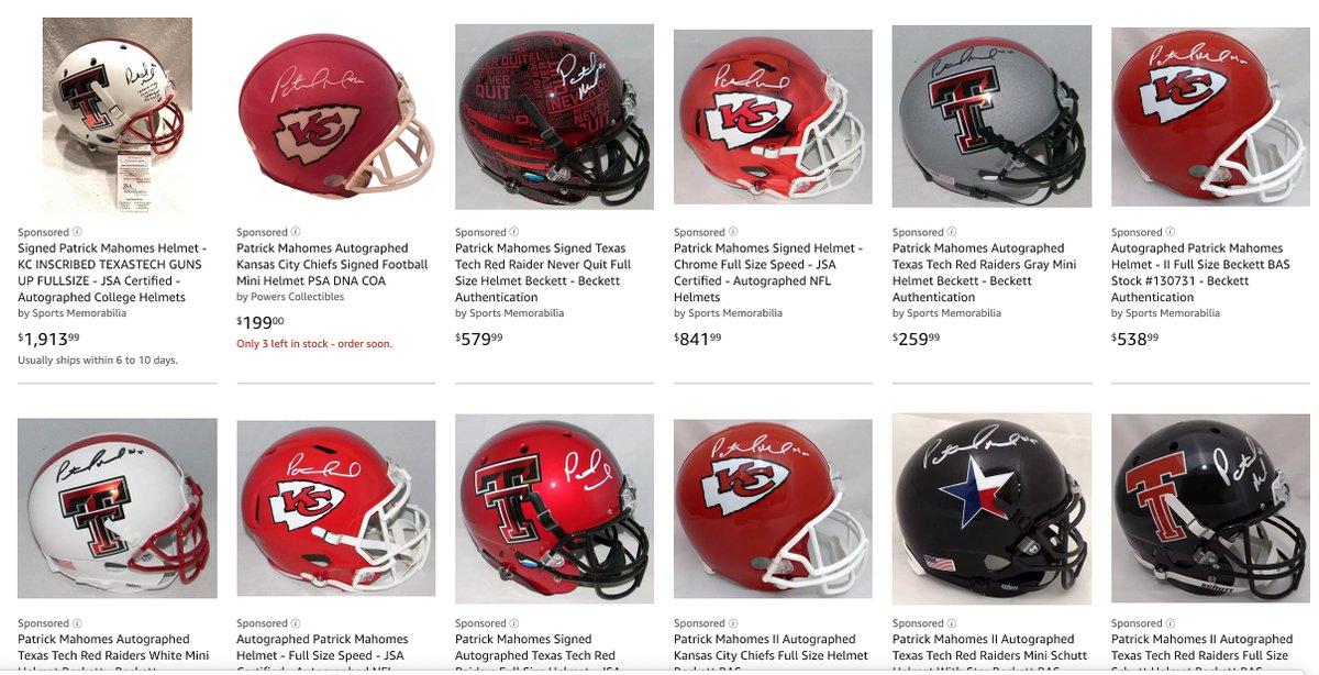 Plenty of Patrick Mahomes Autograph Helmets for sale! https://t.co/Hpvc21FQe4 https://t.co/Bmj3sTO2c1