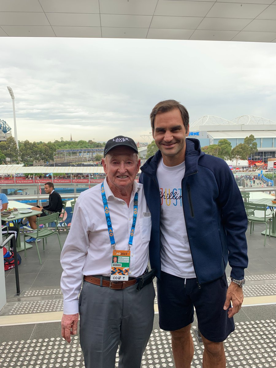 RT @rodlaver: Nice to see my goat-buddy at the #AusOpen https://t.co/l2VBstiGMk