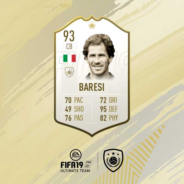 In case you have missed,  🇮🇹 Franco Baresi Prime ICON SBC is available in #FIFA19. https://t.co/QbNOA3jMHt