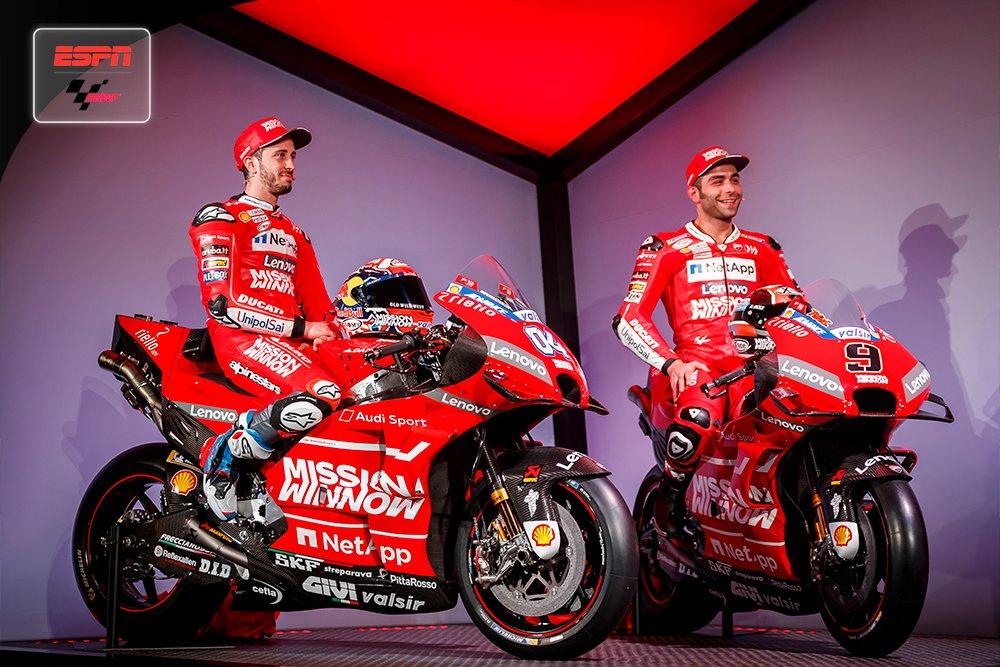 RT @MotoGP_ESPN: #MotoGPxESPN Ducati presentó su equipo para este 2019. ¿Le tienen fe a esta dupla? https://t.co/95IIM8xUyq