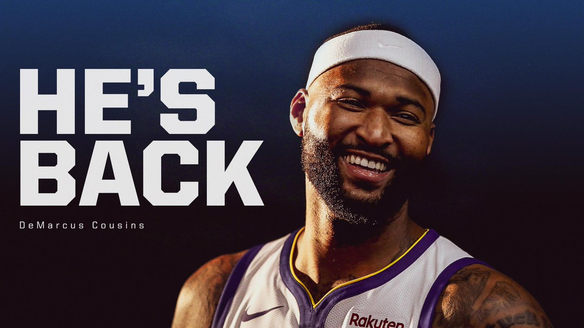 RT @espn: Today's the day ...  @boogiecousins is back! https://t.co/R1mB5Aygqs
