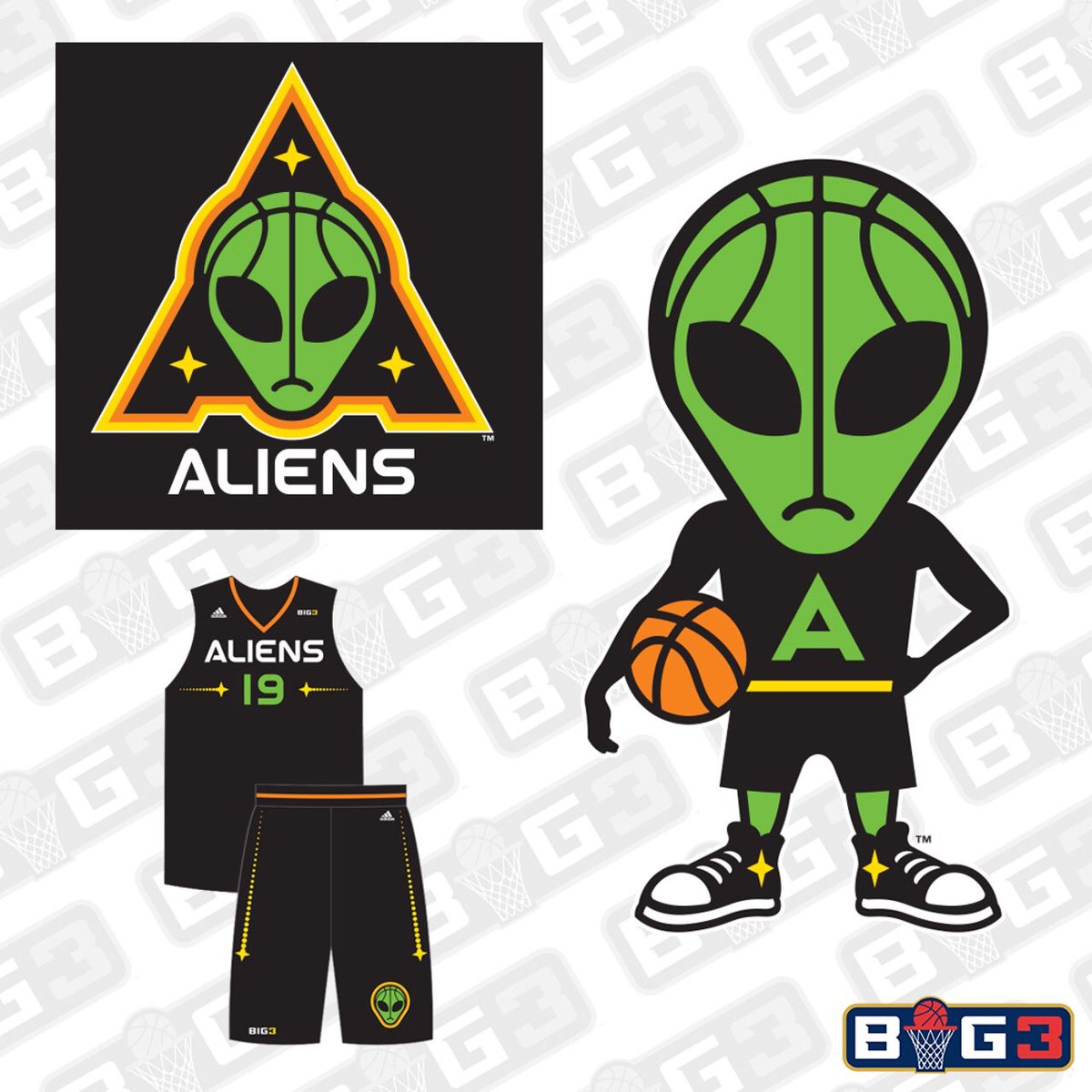 RT @Ballislife: Exclusive look at the jerseys and logo of brand new @thebig3 team Aliens!! https://t.co/3CoNYZR4Ii