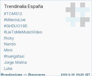 'Luke' acaba de convertirse en TT ocupando la 10ª posición en España. Más en https://t.co/K5DFqqcseW #trndnl https://t.co/8xEGEhxVS5