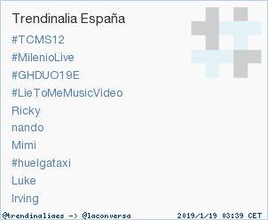 'Irving' acaba de convertirse en TT ocupando la 10ª posición en España. Más en https://t.co/K5DFqqcseW #trndnl https://t.co/4DYWHcK1aW