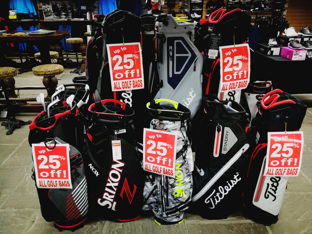 test Twitter Media - HUGE savings on #Golf Bags @CottrellParkLtd   Up to 25% Off our entire Golf Bag range. Great deals on @TitleistEurope, @SrixonGolf and @volvikUSA golf bags. Titleist StaDry bag now just £160 and Volvik stand bag just £60.  Hurry - limited stock available.  Tel: 01446 781781 Opt 1 https://t.co/lh4bfA2Opn