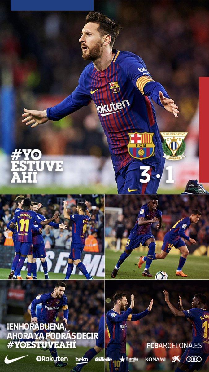 RT @RadioFCB: La verdad es que un Barça-Leganés me trae tan gratos recuerdos... 😍😍😍 https://t.co/qQsDDpZlcL