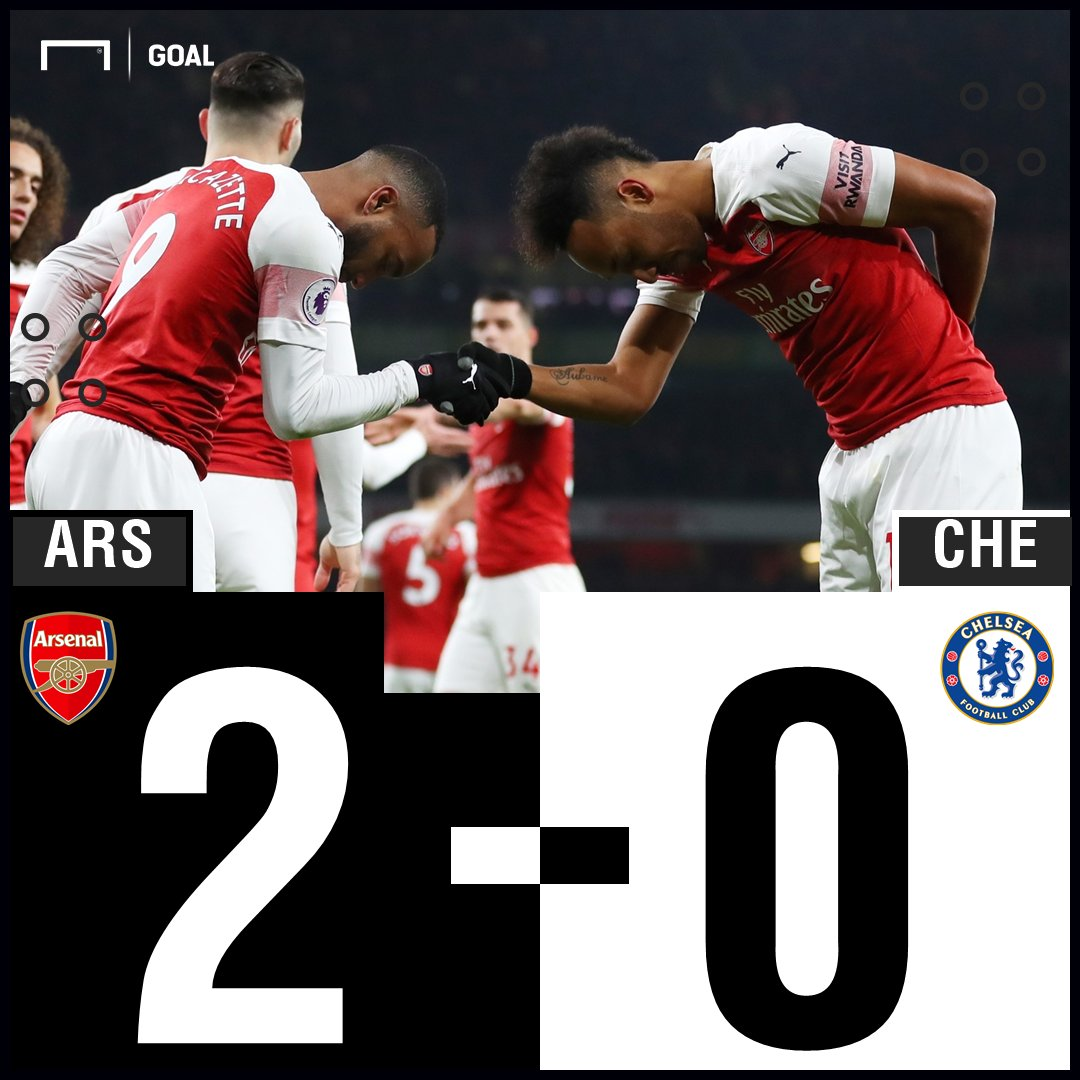 RT @GOAL_ID: FT: Arsenal 2-0 Chelsea - https://t.co/eJHnf4OHPb #ARSCHE #MatchdayGoal https://t.co/jGaB44Q6Rg