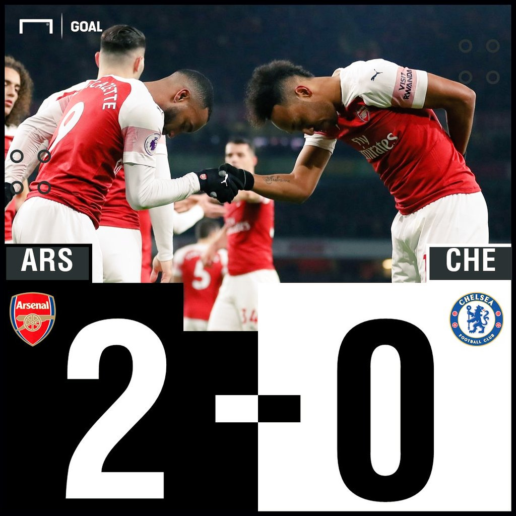 FT : Arsenal 2 - 0 Chelsea #ARSCHE #MatchdayGoal https://t.co/hppcVtVTPp