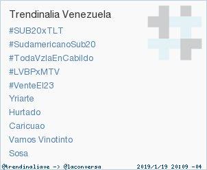 'Hurtado' acaba de convertirse en TT ocupando la 7ª posición en Venezuela. Más en https://t.co/TZZWvFfY1p #trndnl https://t.co/EFjKBK9vDP