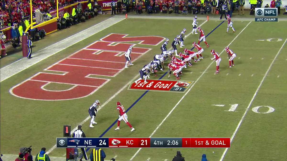 RT @NFL: Damien Williams gives the @Chiefs the lead again! #LetsRoll  📺: #NEvsKC on CBS https://t.co/gXnOQEn3wY