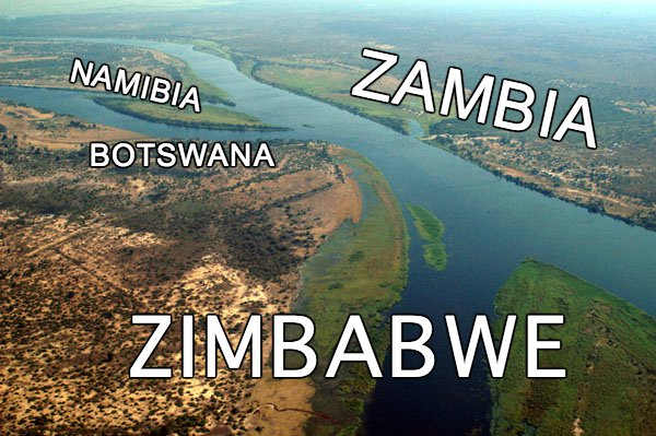IMAGE: Border between Botswana, Namibia, Zambia and Zimbabwe. https://t.co/8YHbeh9z7e