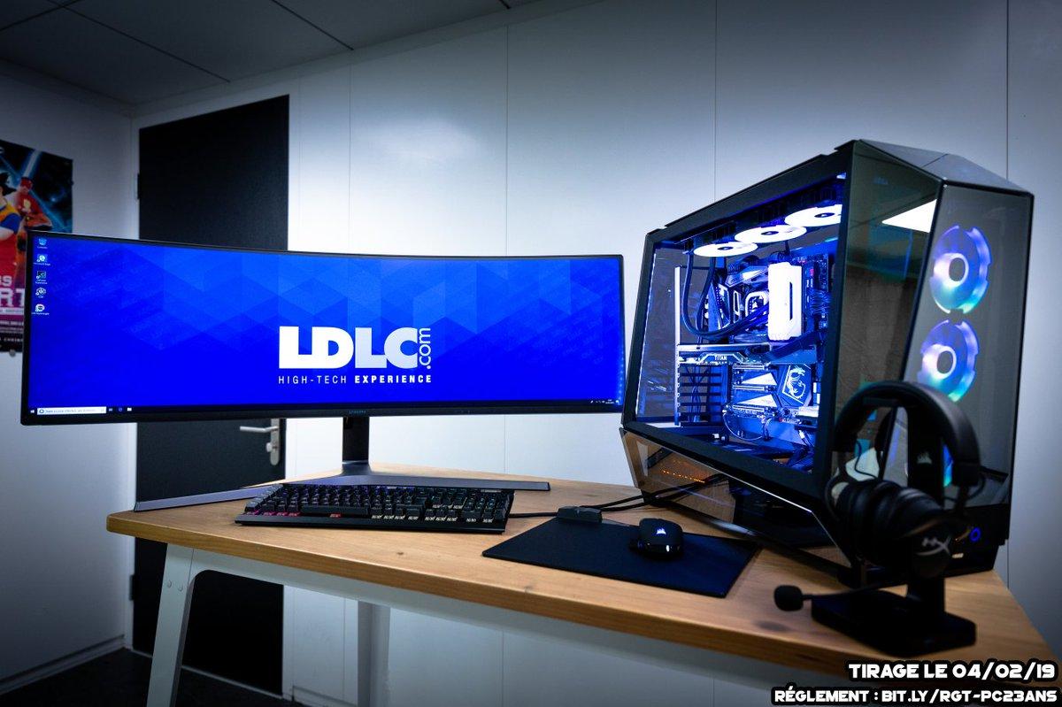 Concours 🎁  Le #PCduCMLDLC de +12 000€ est à gagner ! 💙  👉 Pour participer Follow @LDLC et @NVIDIAGeForceFR + RT ce tweet  Bonus : un produit au choix (max de 300€) et si vous êtes sages, on rajoute un siège gamer 😎  Config :   Bonne chance 🍀
