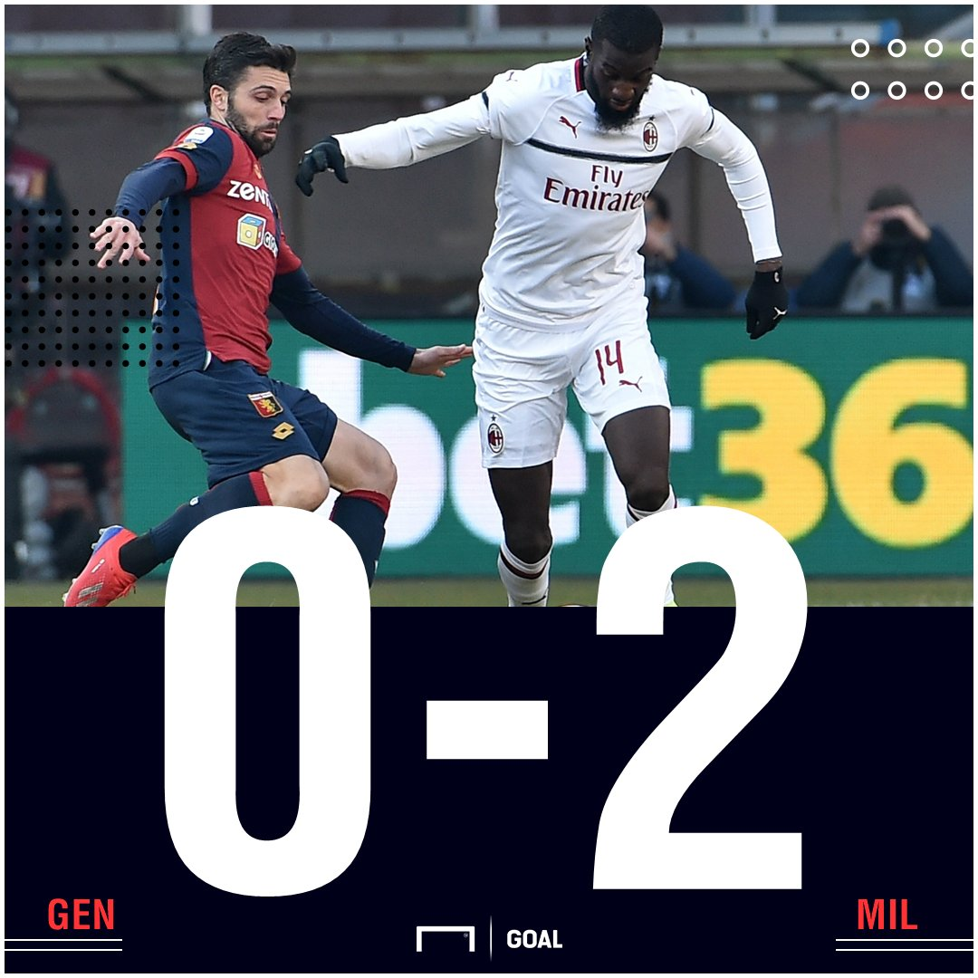 RT @GOAL_ID: FT: Genoa 0-2 AC Milan https://t.co/XDnT6NklkV #MatchdayGoal https://t.co/fPlUDqAVrN