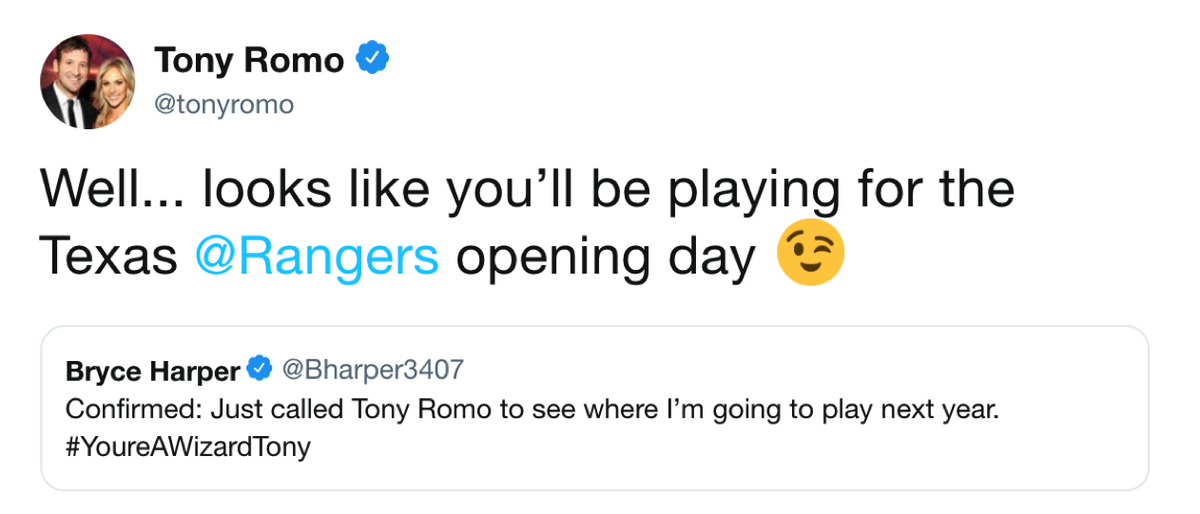 .@tonyromo has spoken 😂 https://t.co/mqorQKq0Gw