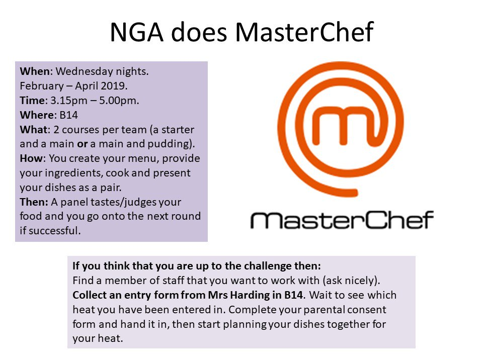 NGA does MasterChef is coming soon! Don't forget to pick up your application form! #NGAdoesMasterChef #NGAGirlsCan https://t.co/HGV4hgQGa3