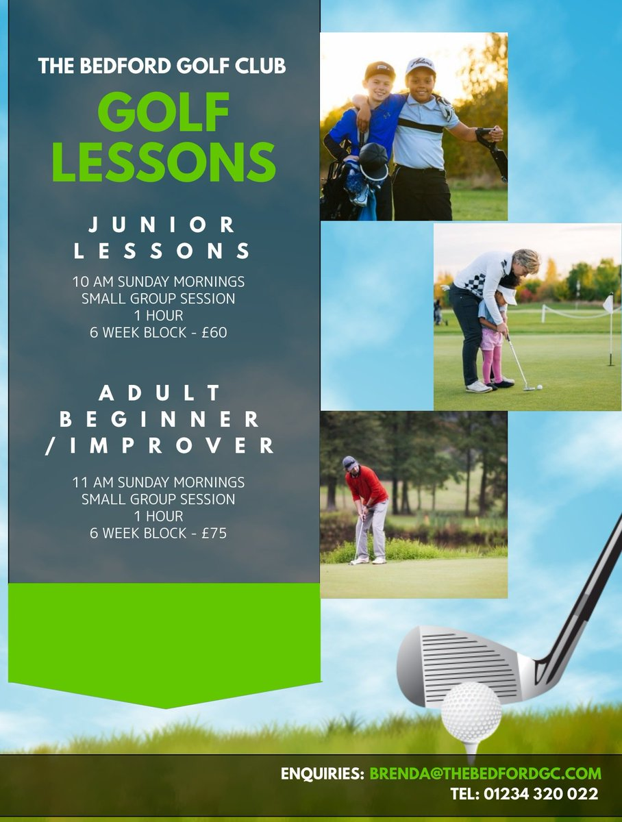test Twitter Media - Are you interested in getting back into golf or are you a complete beginner but not sure where to start?  Our small group Beginner/Improver lessons are a great way to get started or to regain confidence  Call: 01234 320 022 Email: brenda@thebedfordgc.com #GolfLessons #GetIntoGolf https://t.co/VqaQMJ4WpO